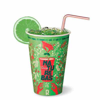 Qmais Promo - Copos de Papel Descartáveis Biodegradáveis