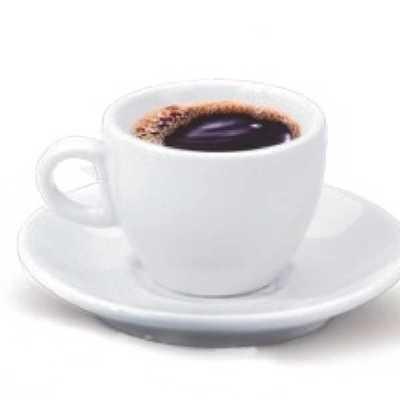 lb-brindes - xícara de café com pires branca lisa 70ml