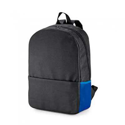 "Mochila para Notebook Personalizada; Compartimento para notebook 15.6""; Bolso lateral em mesh e bolso frontal; Parte posterior almofadada; Medida... - Mathias Promocionais"