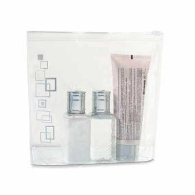 mathias-promocionais - Bolsa de cosméticos hermética. PVC. Apropriada para transporte em cabine de avião. Frascos não inclusos. 165 x 185 x 40 mm | Capacidade < 1 Litro