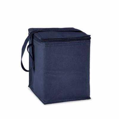 mathias-promocionais - Bolsa térmica em poliéster 600. Peças nas cores azul, branca e verde clara. Medidas: 150x190x150mm. Gravação: silk.