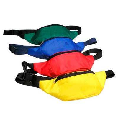 mathias-promocionais - Pochete em Nylon 70, bolso frontal com zíper, e alça de cintura regulável de 30 mm com fechamento em tic-tac.