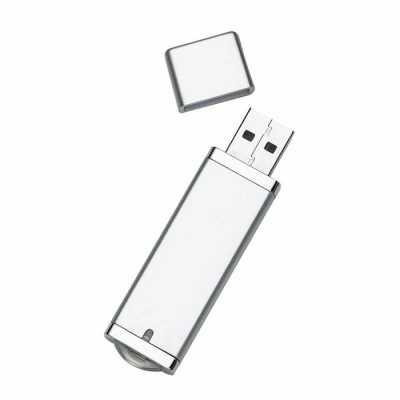 mathias-promocionais - Pen drive Super Talent 4GB/8GB em plástico resistente, copo cinza com detalhes prata. Possui tampa e ao conectar no USB uma luz irá acender na parte i...