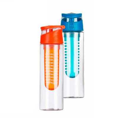 mathias-promocionais - Squeeze plástico 700ml com infusor. Tampa rosqueável colorida com alça acoplada na tampa, possui uma espécie de fivela para lacre(basta levantar/abaix...