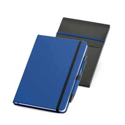 Kit Bloco de Anotação com caneta e embalagem - Nazartes Brindes