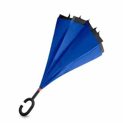 nazartes-brindes - Guarda-chuva invertido com cabo plástico e haste de metal, botão acionador para abertura automática, tecido ponge chinês, seda crua poliéster, oito va...