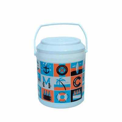 Cooler 16 latas MEDIDAS: 33,5 cm de altura com a tampa x 26,0 cm de diâmetro CAPACIDADE: 12 Litro...