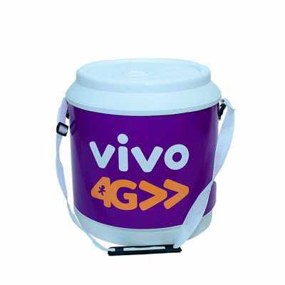 Cooler 30 latas MEDIDAS: 37,0 cm de altura com a tampa x 33,5 cm de diâmetro CAPACIDADE: 21 Litro...