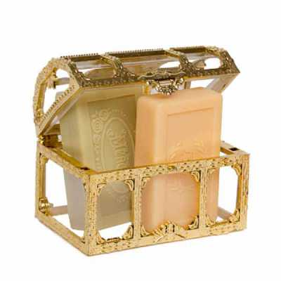 de-la-merche - Mini bauzinho com sabonetes veganos e etiqueta personalizada