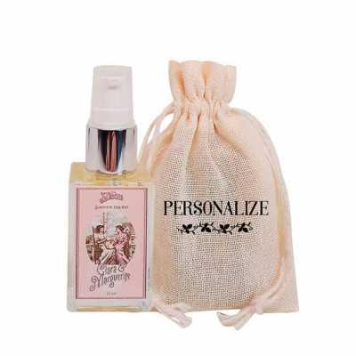 De La Merche - Mini sabonete líquido Clara & Marguerite em sacolinha de algodão