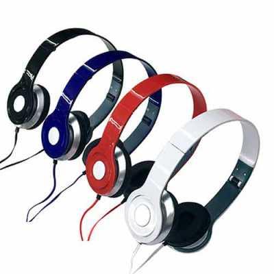 labor-brindes - Fone de ouvido estéreo articulável, protetor em couro sintético com espuma e material plástico inteiro colorido com detalhes prata. Headfone de hastes...