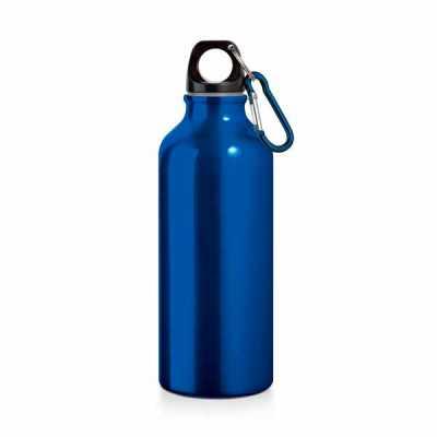 Squeeze. Alumínio. Com mosquetão. Capacidade: 500 ml. Food grade. Caixa branca 94656 vendida opcionalmente. ø66 x 210 mm - EV Brindes