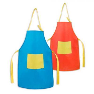 Avental para criança. Ajustável. Com 1 bolso. Medidas: 400 x 600 mm | Bolso: 200 x 150 mm. Fabric...