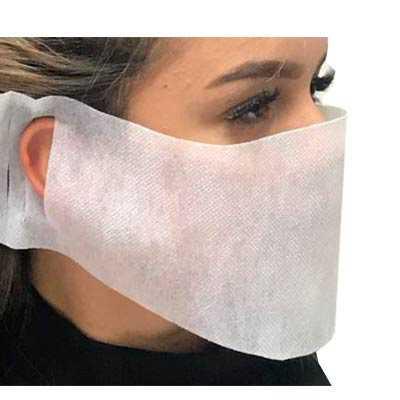 Máscara de proteção em TNT