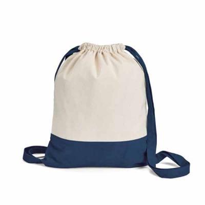 Mochila saco algodão em duas cores Sacola tipo mochila. 100% algodão canvas: 180 g/m². 350 x 430 ...