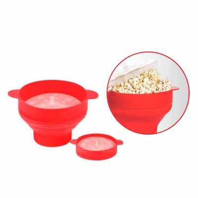 Pipoqueira de silicone Ideal para quem quer comer uma pipoca saudável, de preparação rápida e sem...