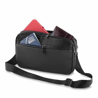 Pochete estilo mini bolsa com alça regulável e destacável - ArtPromo