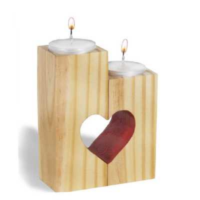 Porta Velas Coração Amor