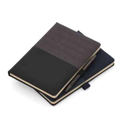 Caderno de anotações com suporte para caneta - ArtPromo