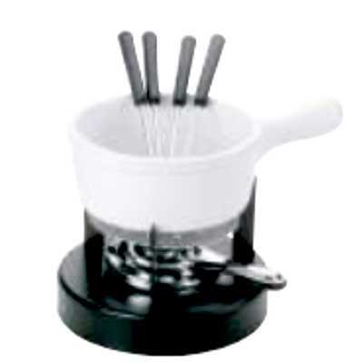 Aparelho de fondue para queijo com 8 peças em cerâmica