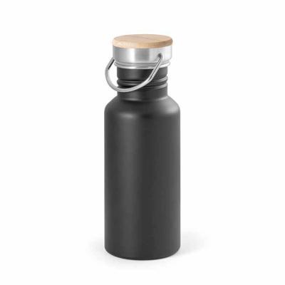 Squeeze. Aço inox. Tampa em bambu. Capacidade: 540 ml. Food grade. Fornecido em caixa. Ø68 x 192 mm