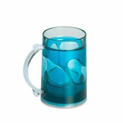personalite-brindes - Caneca acrílica brilhante de 200ml com gel térmico