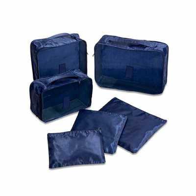 personalite-brindes - Kit necessaire com 6 peças confeccionadas em nylon. O cojunto de necessaires possui tamanhos diferenciados, sendo 3 unidades com: alça para transporte...