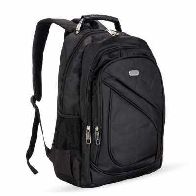 - Mochila nylon poliester para notebook. Possui compartimento grande com bolso interno para notebook, dois compartimentos médios, bolso pequeno frontal...