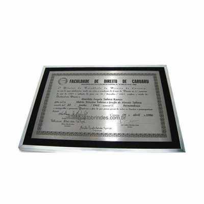 personalite-brindes - Diploma metalizado. Fabricação própria