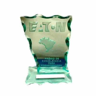 personalite-brindes - Troféu em vidro personalizado