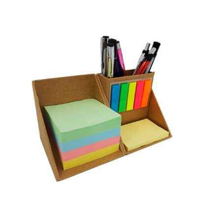 imaginalle-presentes - Bloco de anotação ecológico com sticky notes em formato de cubo