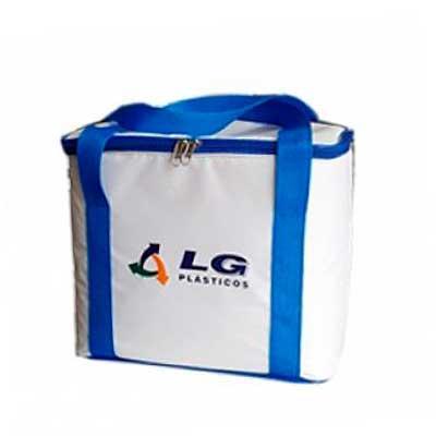 Bolsa térmica com forramento Medidas: Altura: 25cm Largura: 27cm Profundidade: 21cm