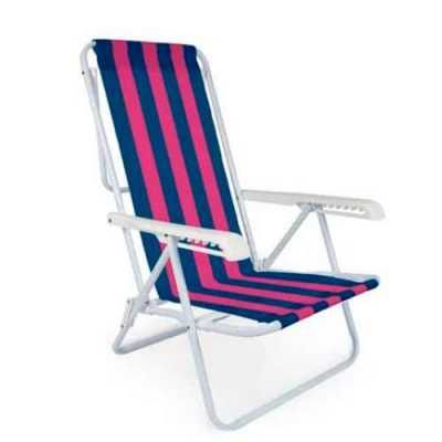 Cadeira Reclinável 8 Posições Aço - Genialle Brindes & Personaliza...