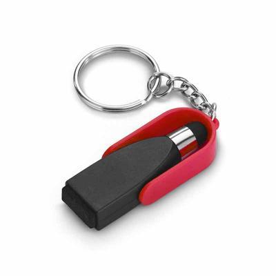 Chaveiro Personalizado . ABS. Com ponteira touch e limpador de tela