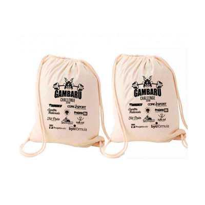 Mochila saco personalizada Material: algodão cru Gravação: silk