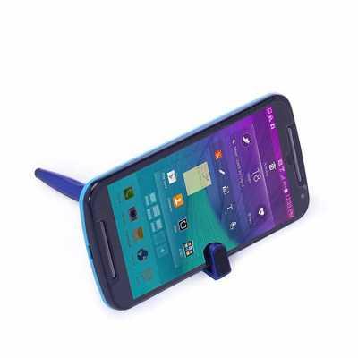 Caneta plástica touch com suporte para celular, caneta inteira colorida com detalhes preto. Clip plástico aberto utilizado como suporte para o celular... - WXZ BRINDES FABRICAÇÃO  PRÓPRI...