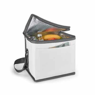 Bolsa térmica. 600D. Com alça ajustável em webbing e bolso frontal. Capacidade até 9 litros. Food...