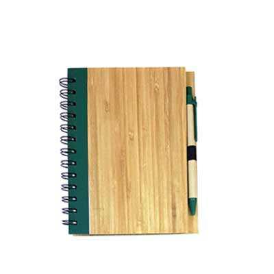 Caderno ecológico Bambu com caneta - WXZ BRINDES FABRICAÇÃO  PRÓPRI...