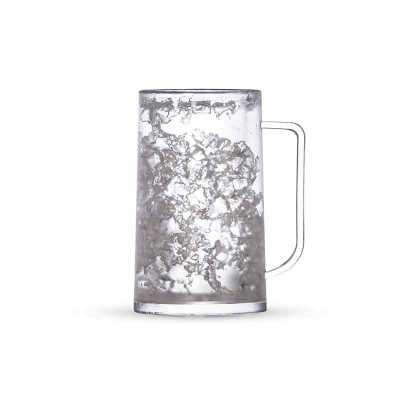pej-brindes - Caneca acrílica 350ml com gel. Acrílico fosco com design em gel, congelar apenas de boca para baixo no máximo 48hs a cada congelamento.