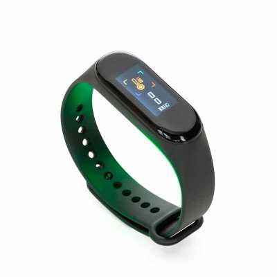 Descrição: Pulseira inteligente M3. O smartwatch é um relógio fit com sensor que monitora suas atividades do dia a dia para o controle de sua saúde, t... - P&J Brindes