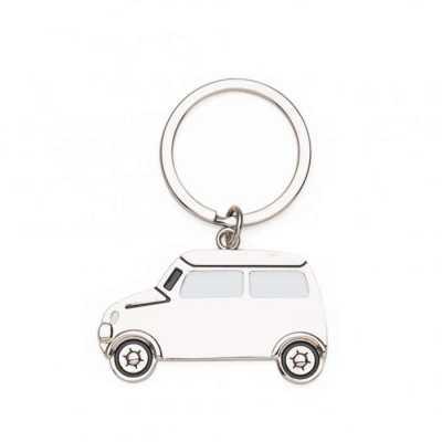 pej-brindes - Descrição: Chaveiro metal formato carro, frente com detalhes em branco e preto em relevo e verso brilhante liso.Medidas aproximadas para gravação (CxL...