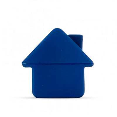 Casa anti stress emborrachada na cor azul. - P&J Brindes