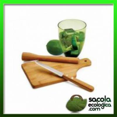 Kit Caipirinha Bambu Personalizado - Sacola Ecológica.COM