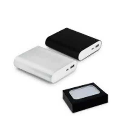 italy-brindes - Bateria Portátil Alumínio Personalizada