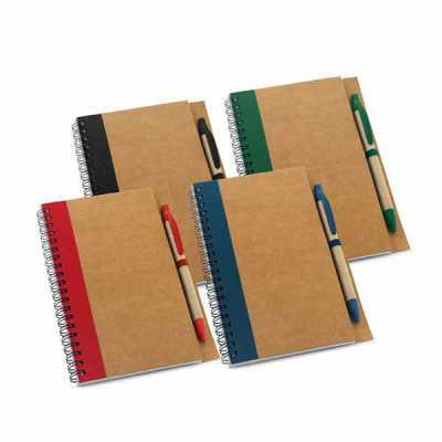 Caderno com esferográfica - Italy Brindes