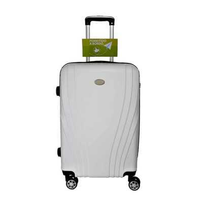 Mala de Viagem em ABS, cadeado acoplado TSA, monocromática, rodas duplas com giro 360°, alça diferenciada, design moderno, amplo espaço interno, carri... - Compre Malas