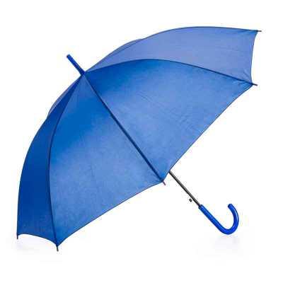 - Guarda-chuva colorido com tecido de nylon e abertura automática, basta acionar o botão inferior. Possui 8 varetas pretas de aço, pegador e bico superi...
