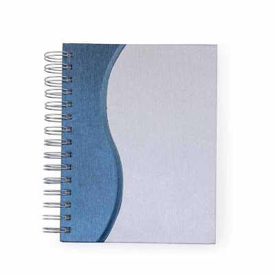 Agenda diária metalizada com ondulação colorida na lateral - Clark Brindes e Presentes Prom...