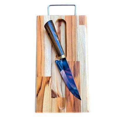 Faca M (cabo em madeira) com tábua em madeira teca Até 100 unidades R$ 70,00 Acima de 100 unidade...