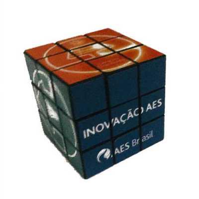 Cubo mágico adesivado